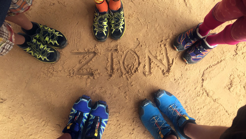 HIking shoes what to wear camping in zion