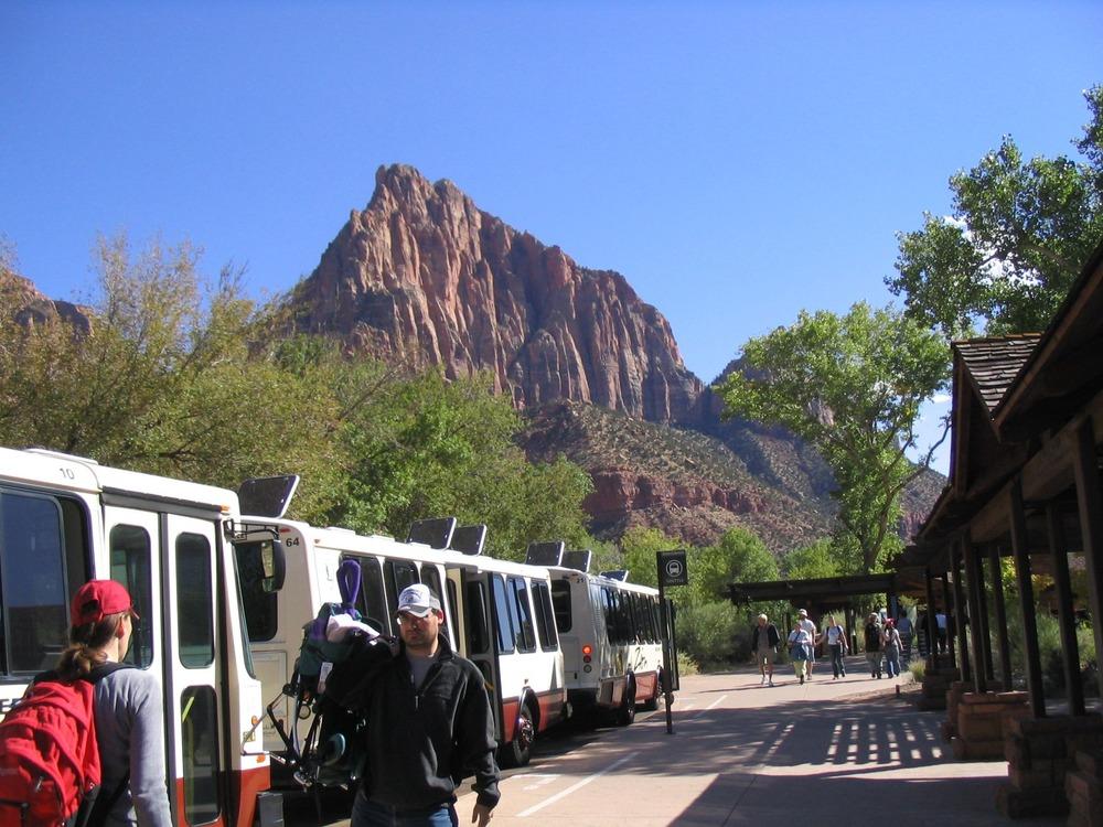 Zion National Park shuttle system