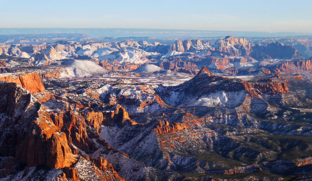 Winter in Kolob Canyon Zion National Park