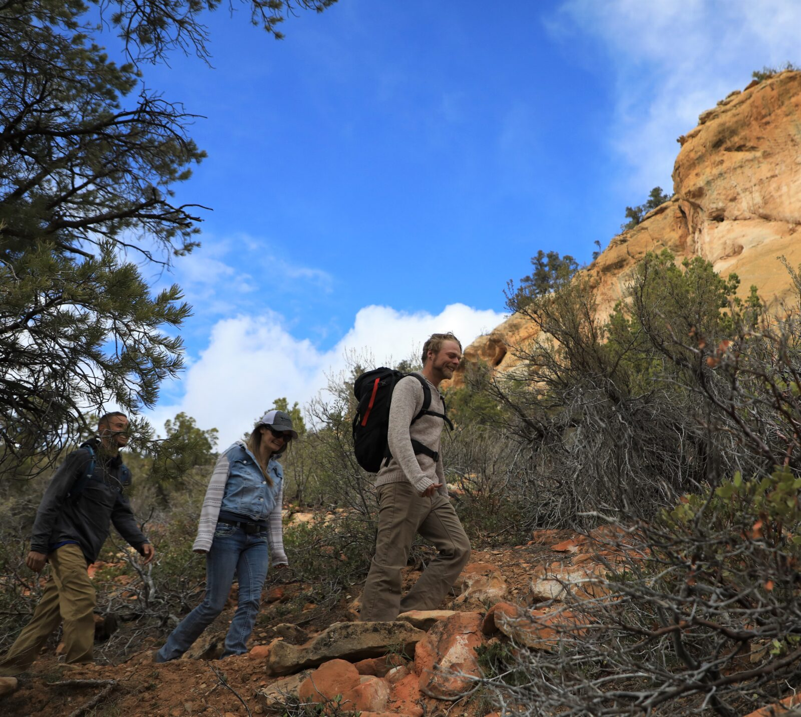 Guided hiking in zion