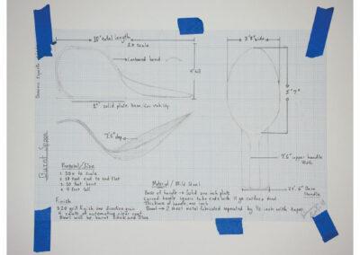 Purdue Sketch, 2018, Pencil on Paper, 17 x 11 in.