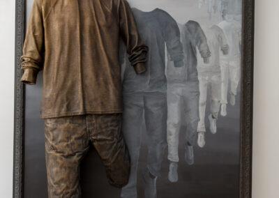 Unconditional, 2020, Bronze, Acrylic on Canvas