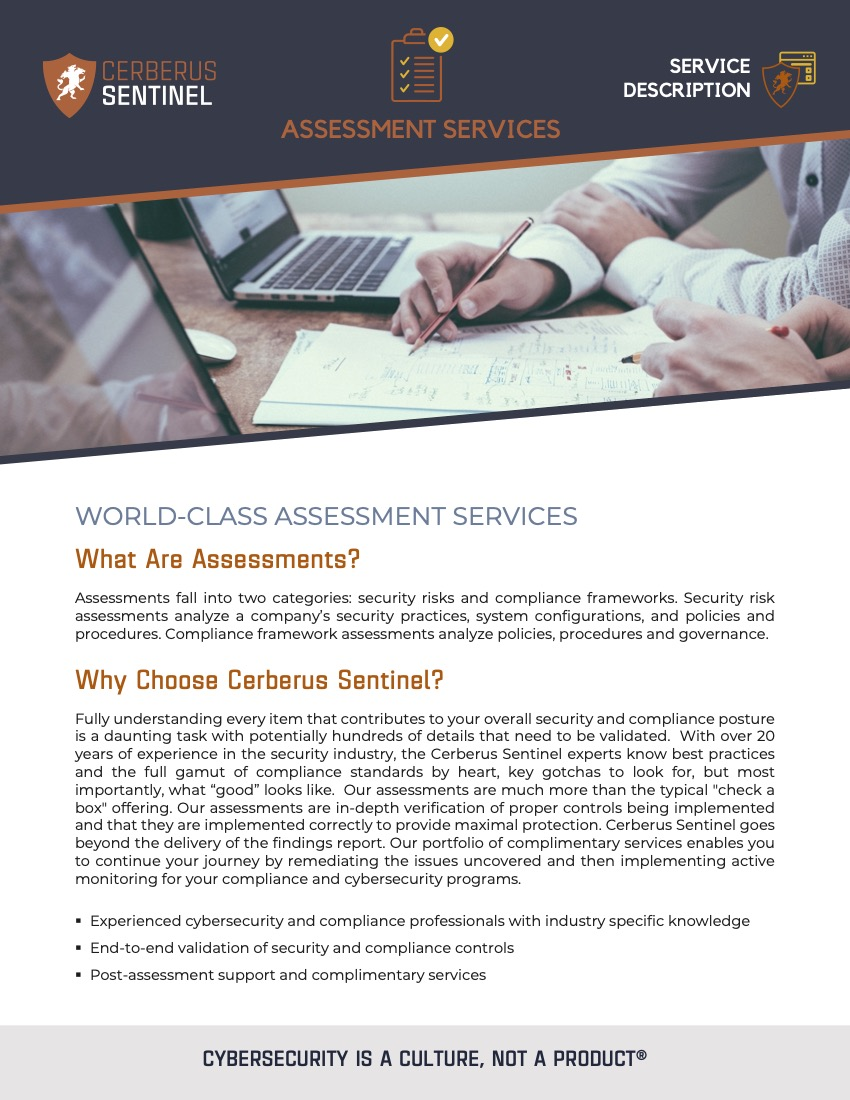 Assessments – Service Overview