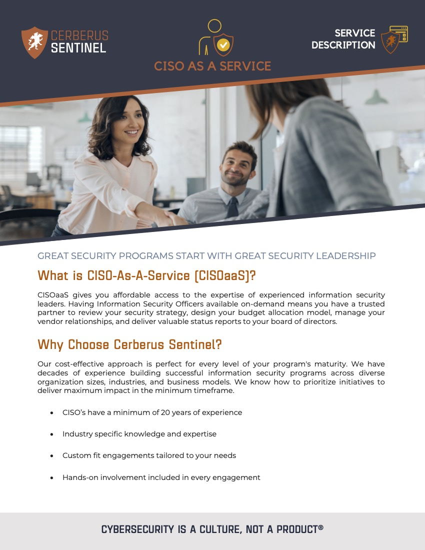 CISO As A Service – Service Overview