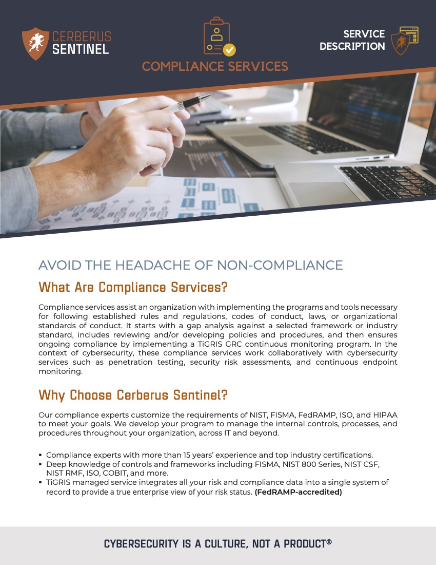 Compliance – Service Overview