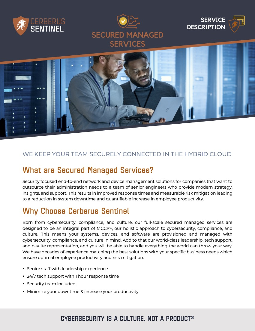 Secured Managed Services – Service Overview