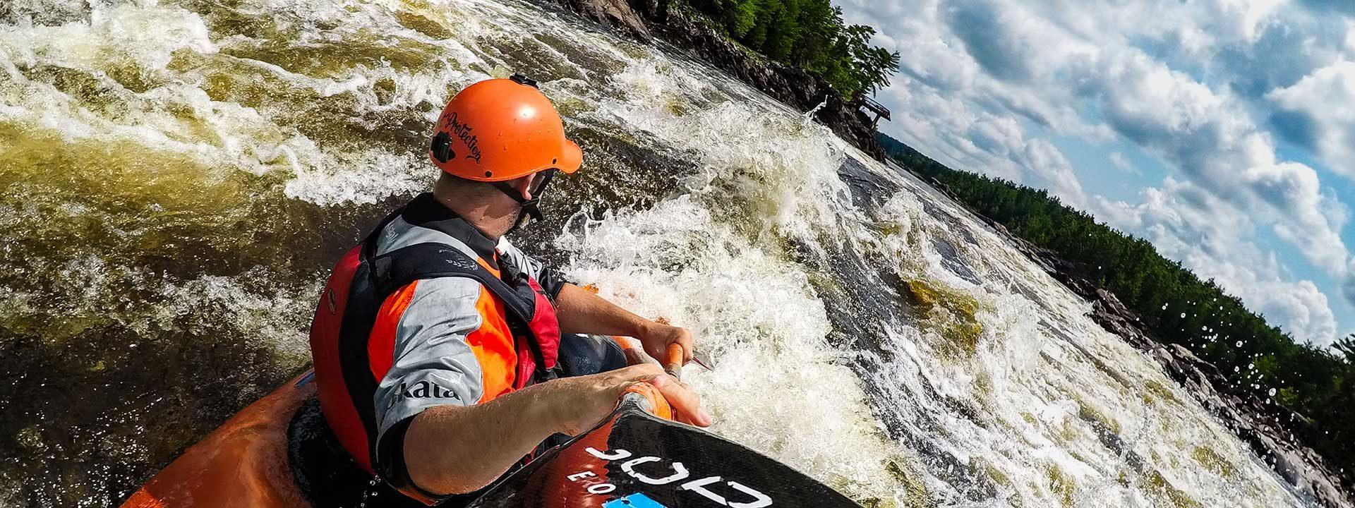 Kayaking on the Ottawa River