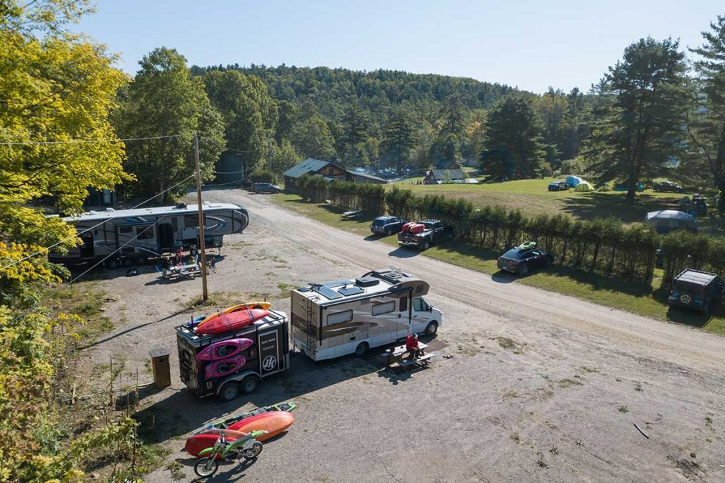 RV Sites at River Run Resort on the Ottawa