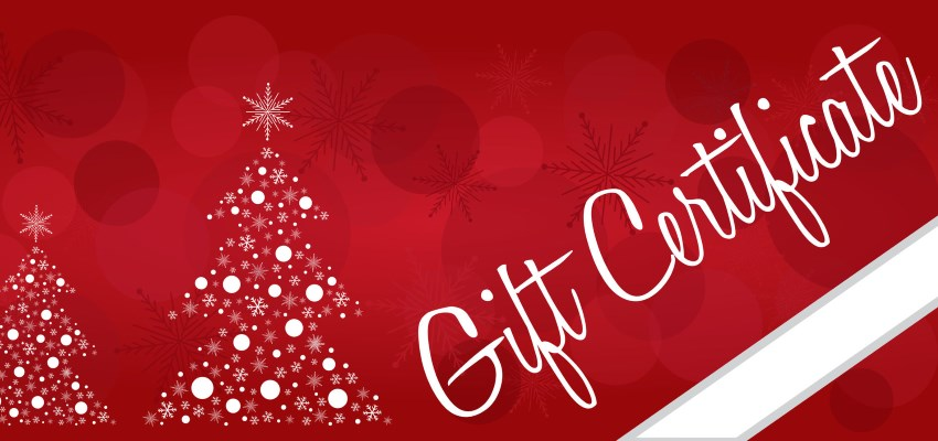 Holiday Gift Certificate