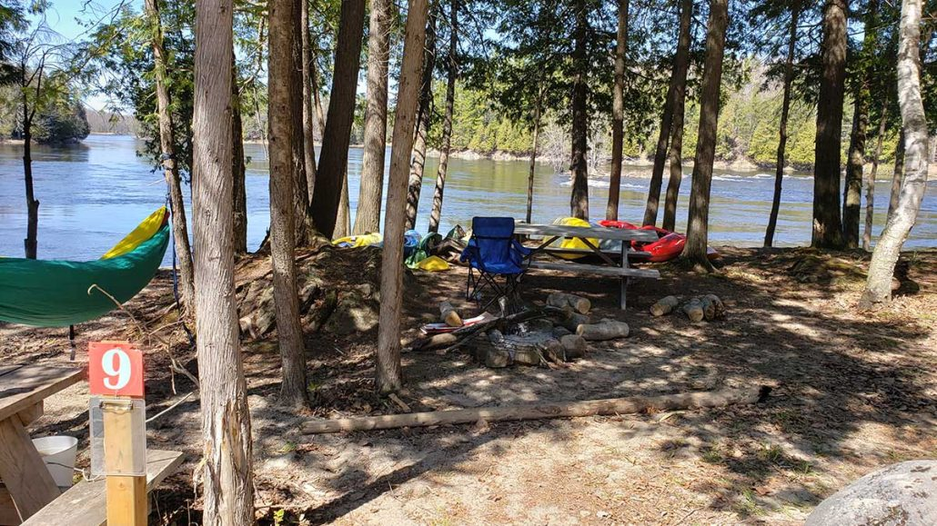 Riverside Camping at the Take Out Ottawa River