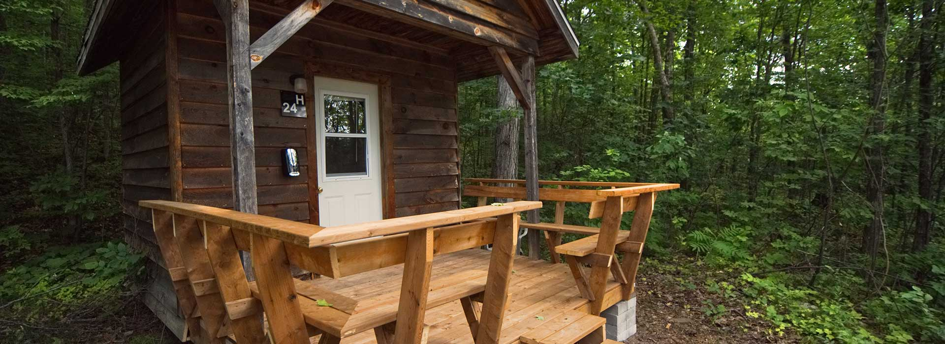Hillside Cabins Exterior at the National Whitewater Park