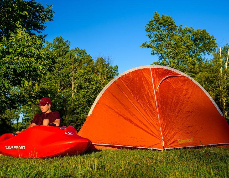 Ottawa River Kayaker Camping
