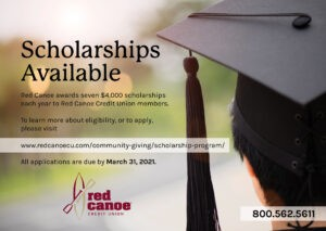 Get cash for college from Red Canoe Credit Union