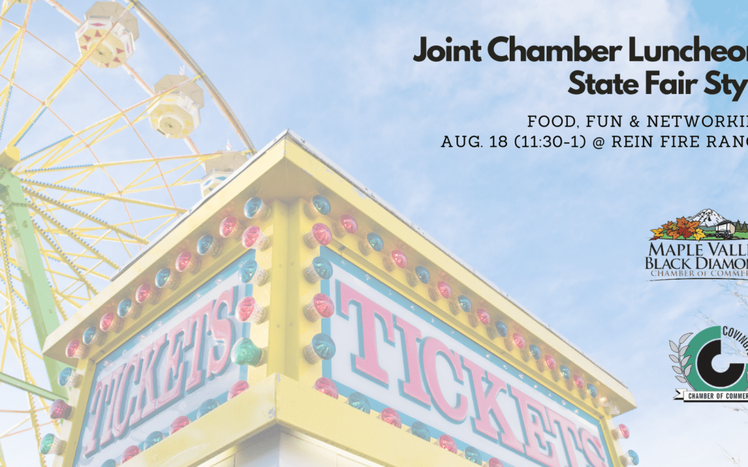 Joint Chamber Luncheon: Aug. 18, 2021