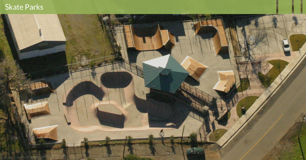 Melton Design Group, a landscape architecture firm, designed the Oroville Skate Park in Oroville, CA.