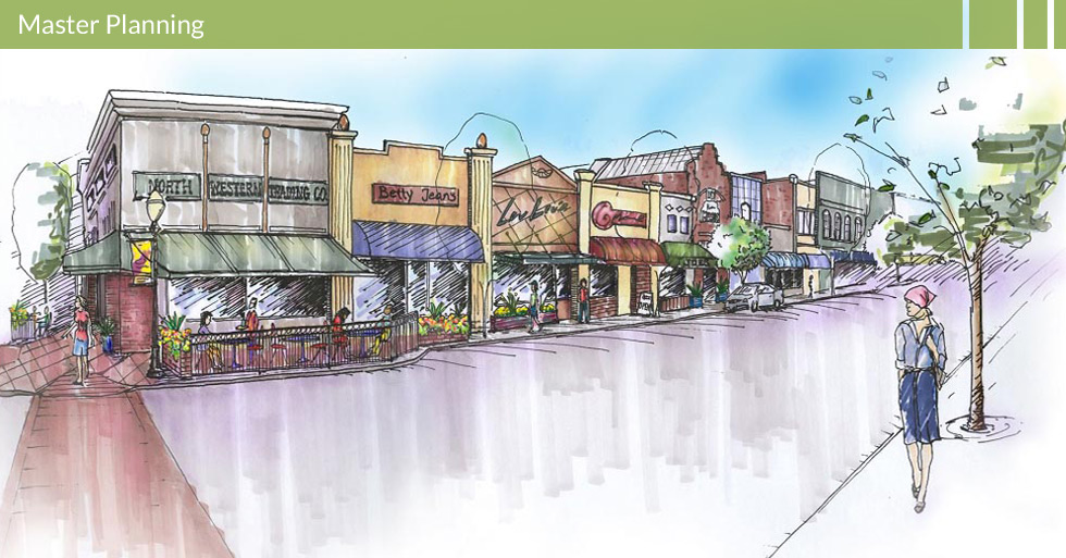 Melton Design Group, a landscape architecture firm, designed the Oroville Downtown Revitalization in Oroville, CA. Designed with brick walkways for crosswalks, steel tube fencing for outdoor seating areas and potted plants.