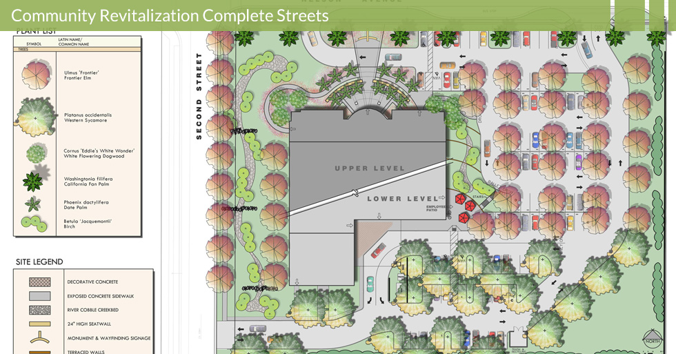 Melton Design Group, a landscape architecture firm, designed the Master Landscape Plan for Butte County Hall of Records in Oroville, CA.