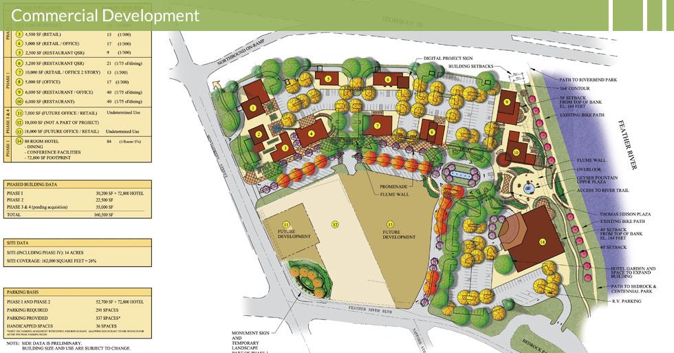 Melton Design Group, a landscape architecture firm, designed a gateway project, the Riverview Retail Center, Oroville, CA.