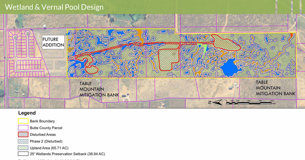 Melton Design Group, a landscape architecture firm, designed the Linkside Wetland Inventory in Butte County, CA.