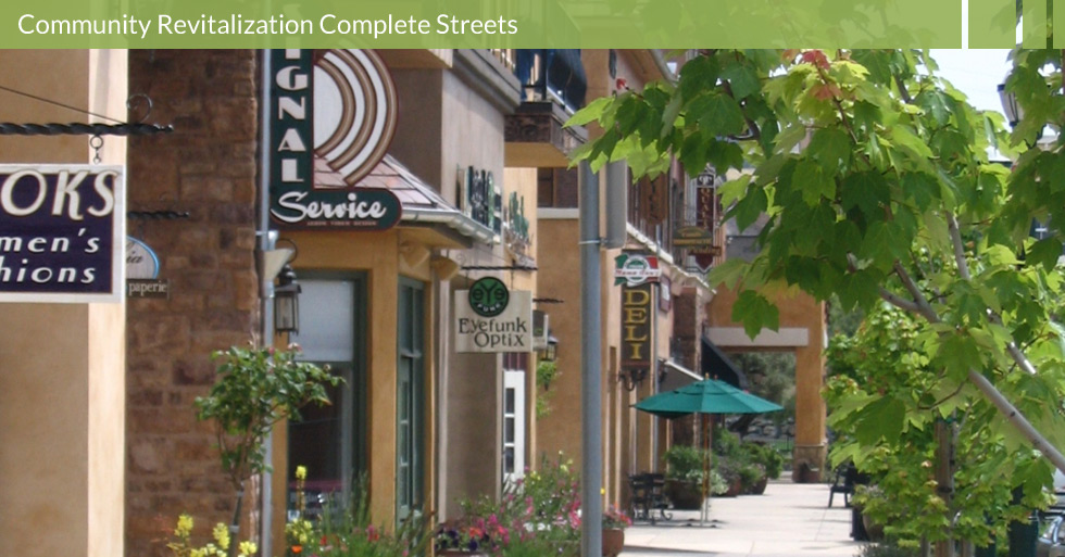 Melton Design Group designed the olive-tree lined streets of Towncenter Blvd. in El Dorado Hills, CA. Italian-inspired store fronts, pedestrian shopping paths and natural plantings.