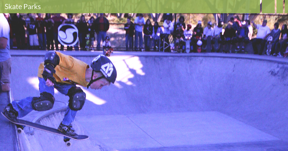 Melton Design Group designed the Skate Park in Anderson, CA. This skate park features viewing areas, unique skate park design, skate park planning focused on action sports.