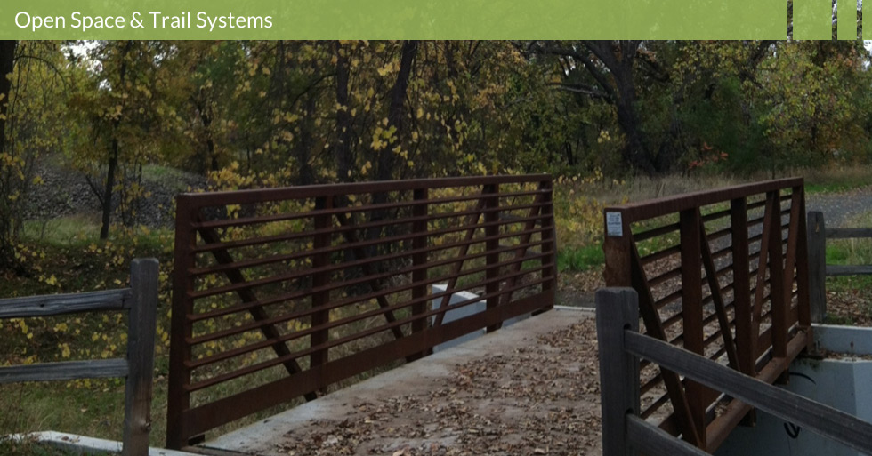 Melton Design Group designed the open space and trail systems of Verbena Fields in Chico, CA. The natural park is centered in a middle of a residential neighborhood featuring walking bridges, trails and interpretative panels.