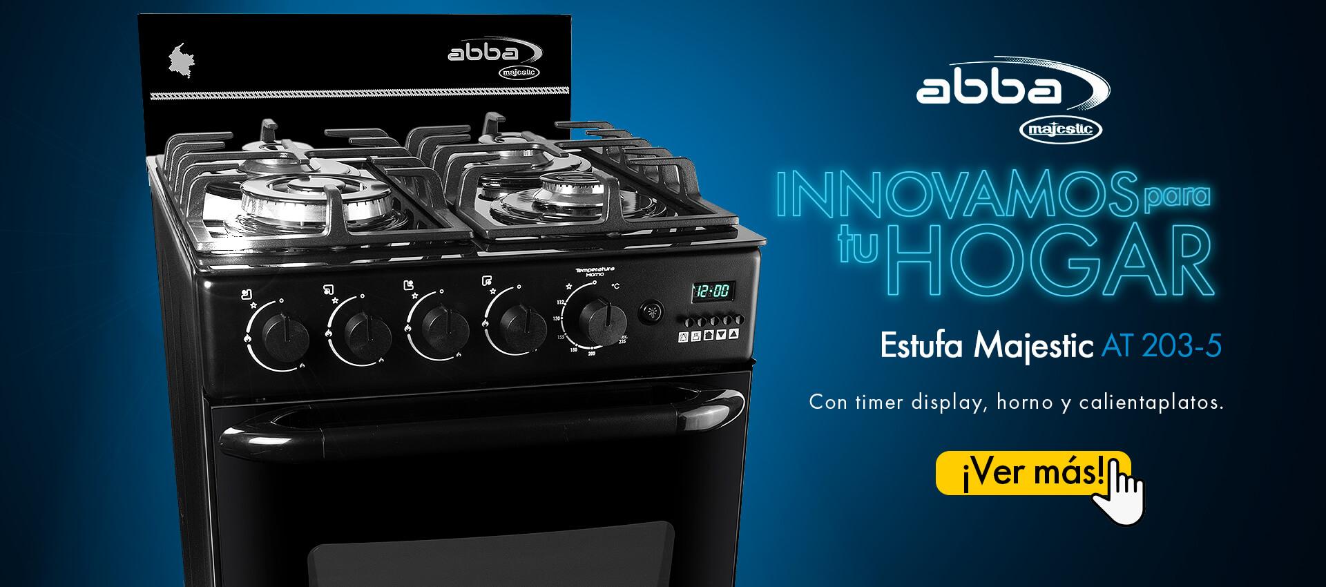 Estufa de piso Abba AT 203-5. Innovación para tu hogar.