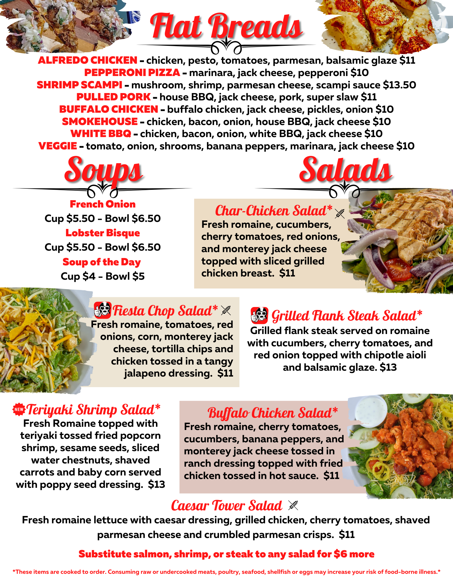 Soups, Flatbreads and Salads