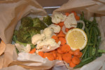 Parchment Bag Steamed Veggies