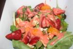 Grilled Chicken, Feta and Strawberry Vinaigrette Salad