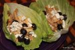Chicken and Feta Lettuce Wraps