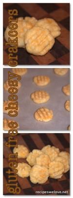 Gluten Free Cheesy Cracker Bites