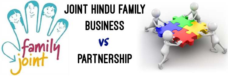 Joint Hindu Family vs Partnership