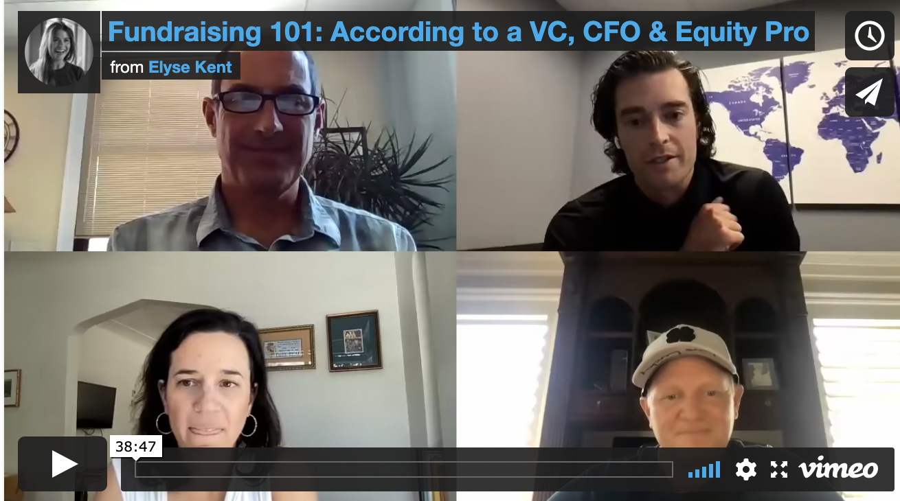 Fundraising 101: According to a VC, CFO & Equity Pro