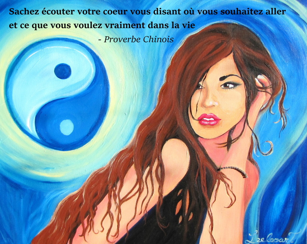 Leelooart - Marie Lauzon_The moon of the Yin.200 - proverbe chinois