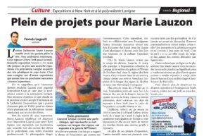 Plein de projet pour Marie Lauzon