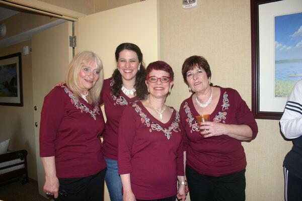Our Quartet Carpe Singem: Donna, Megan, Andrea, Faith