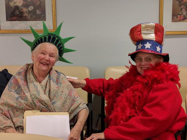 Lady Liberty MaryJett Woodring and Uncle Sam Fran Langille.jpg