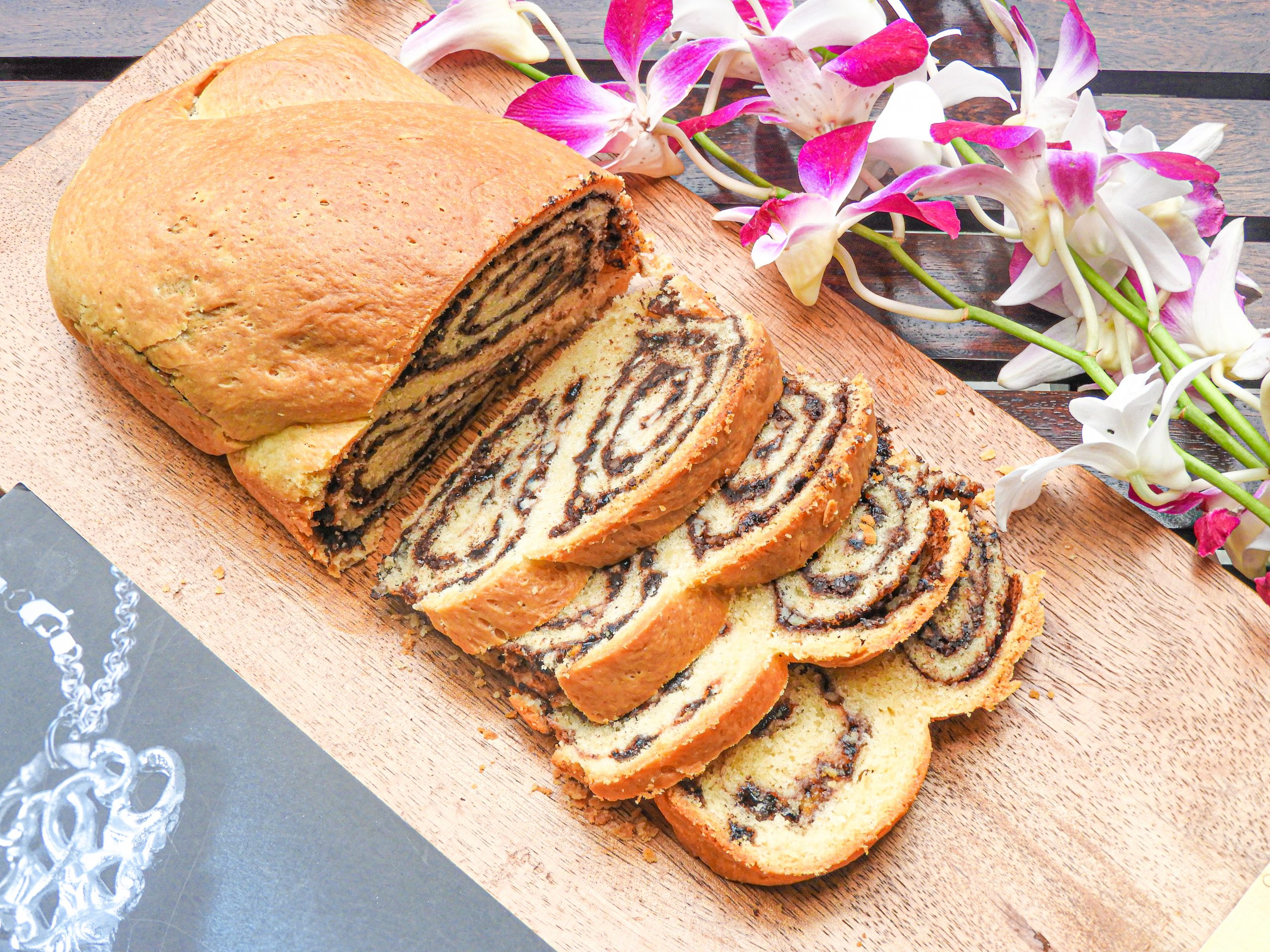 Chocolate Walnut Babka Bread - Middle East Cuisine at Kitchen by Nidhi