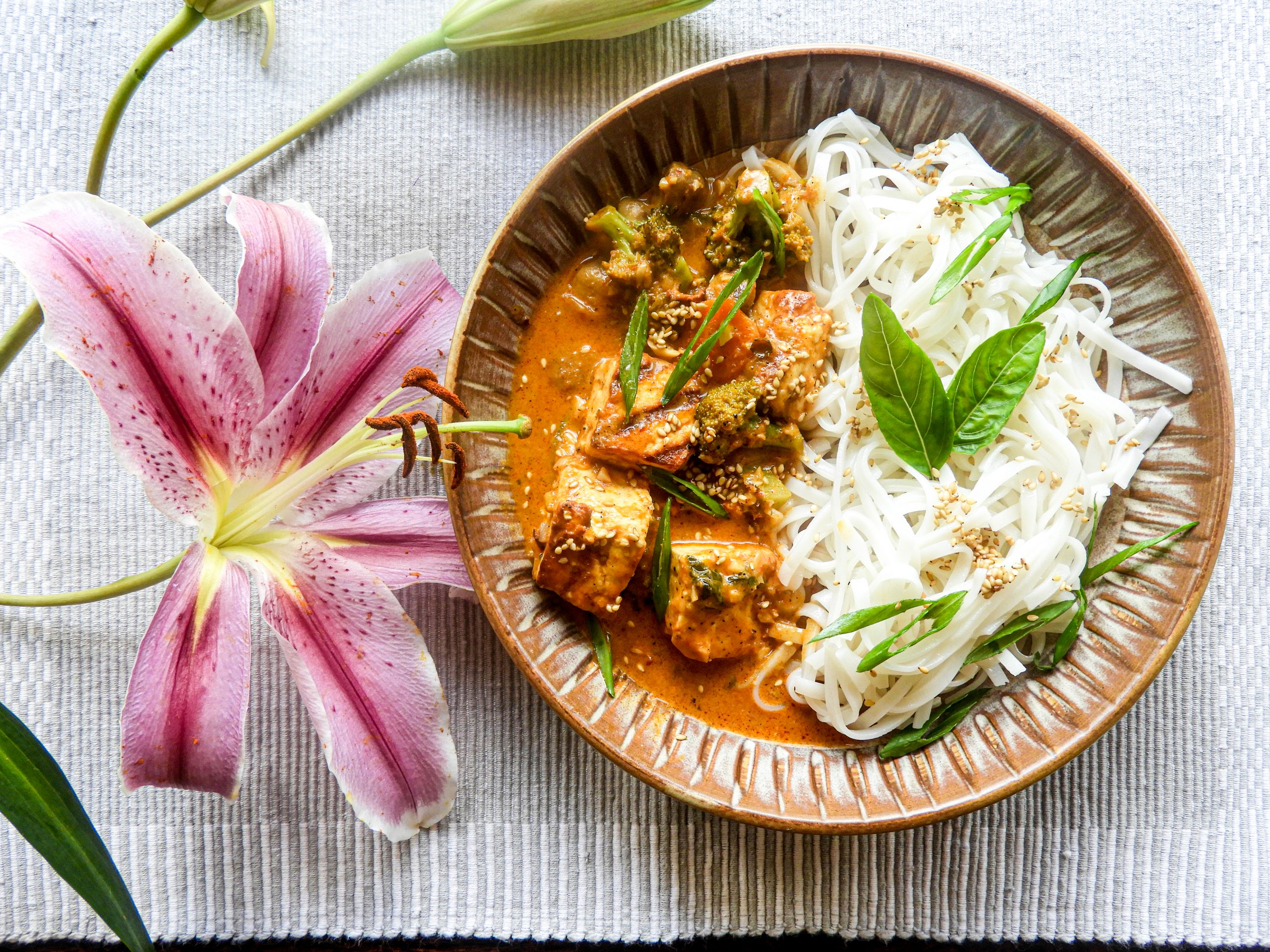 Spicy Grilled Paneer with Vegetables and Rice Noodles - Asian cuisine at Kitchen by Nidhi