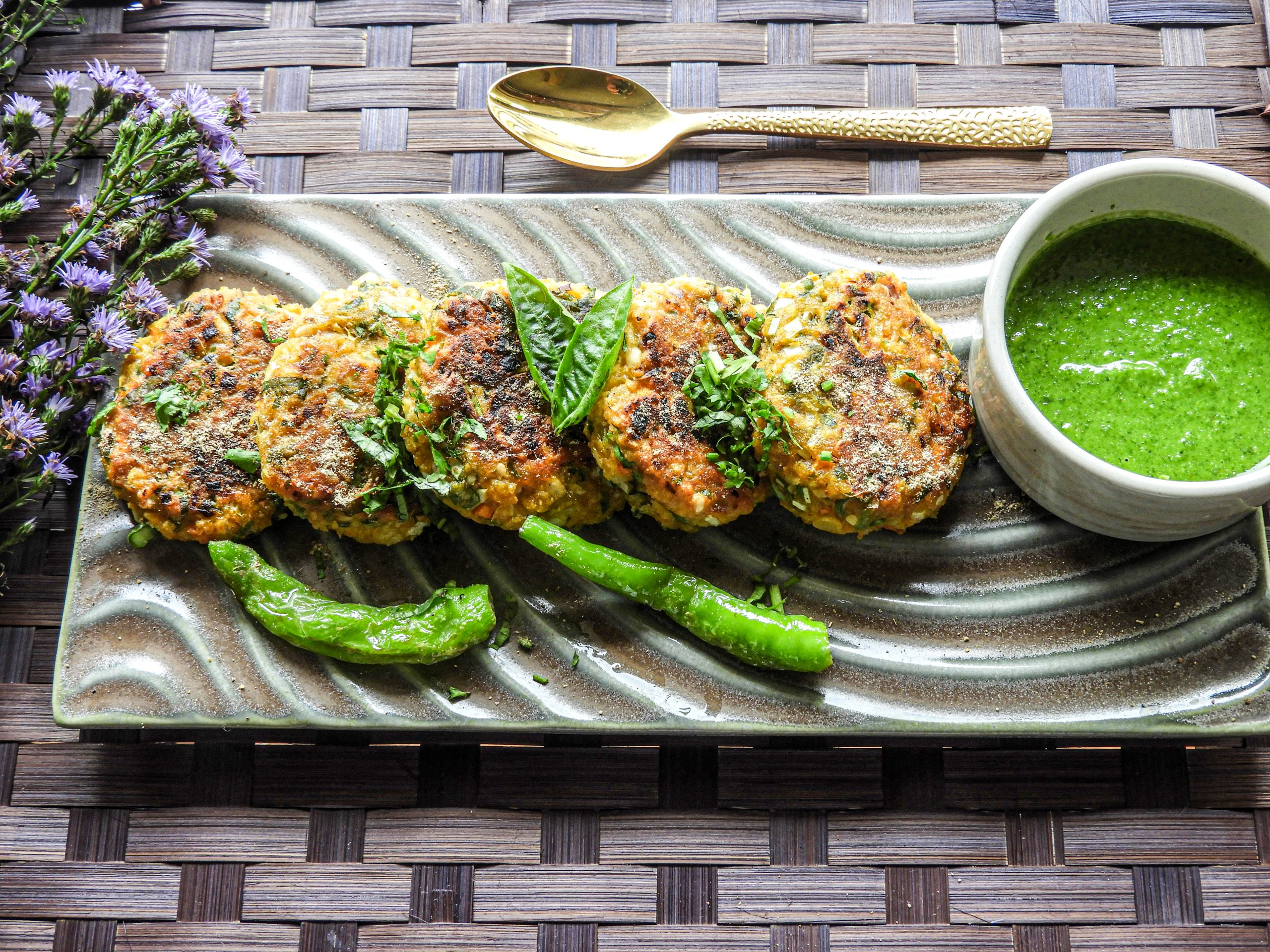 Mixed Pulses Vegetable Tikki - Indian Cuisine at Kitchen by Nidhi