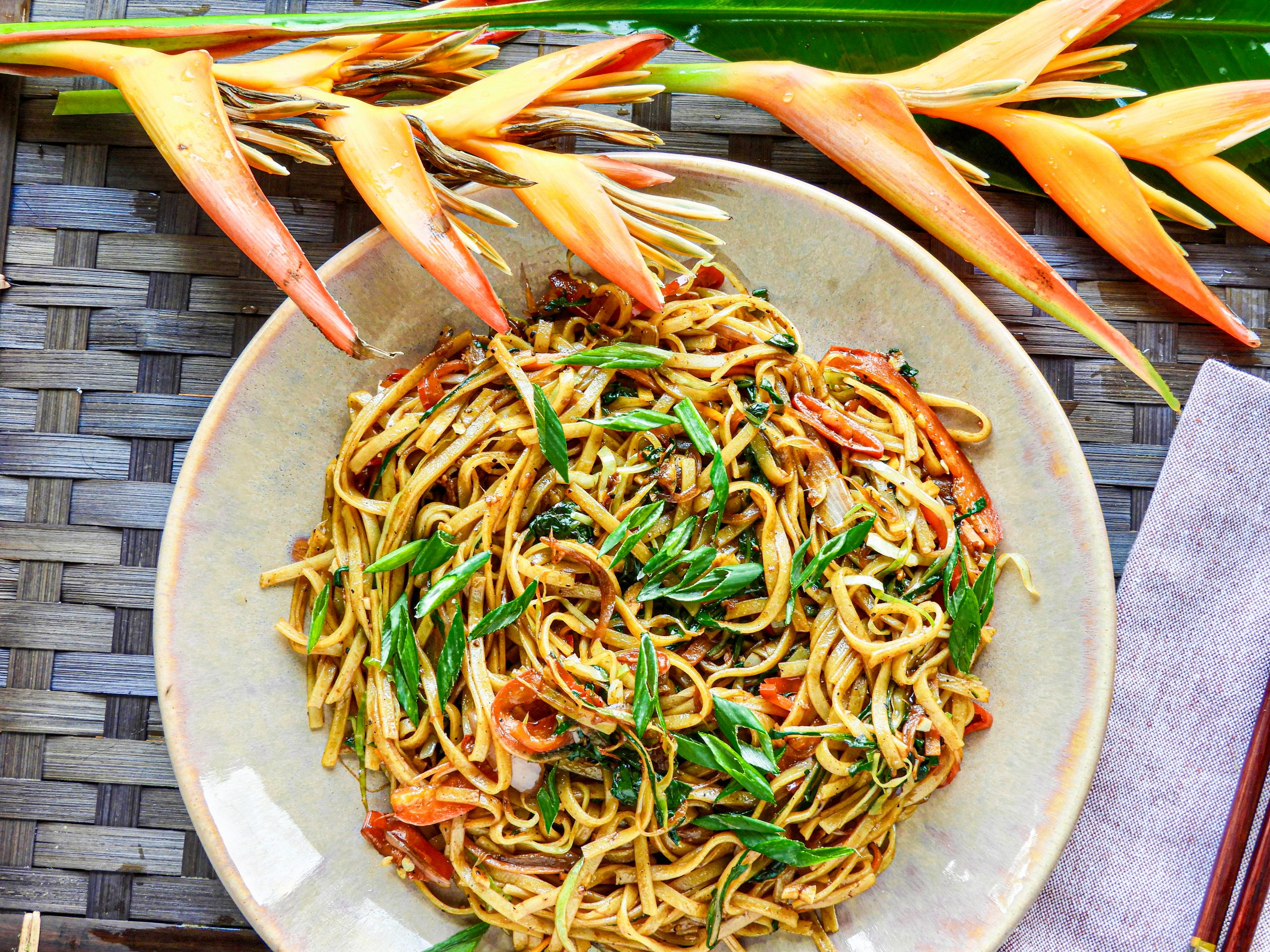 Vegetable Rice Noodles - Asian Cuisine at Kitchen by Nidhi