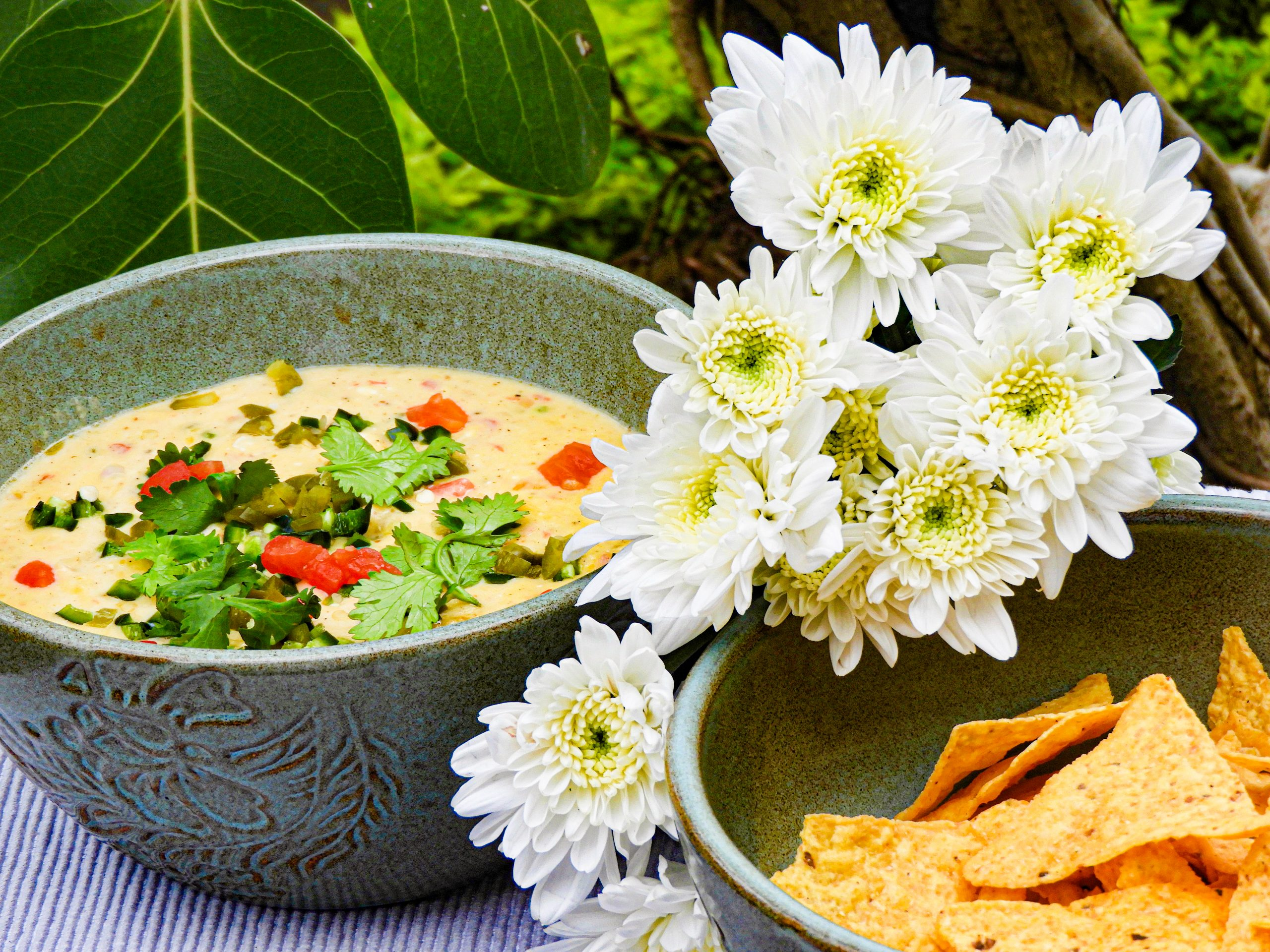 Tomato Jalapeno Queso with Nachos - Mexican Recipe at Kitchen by Nidhi