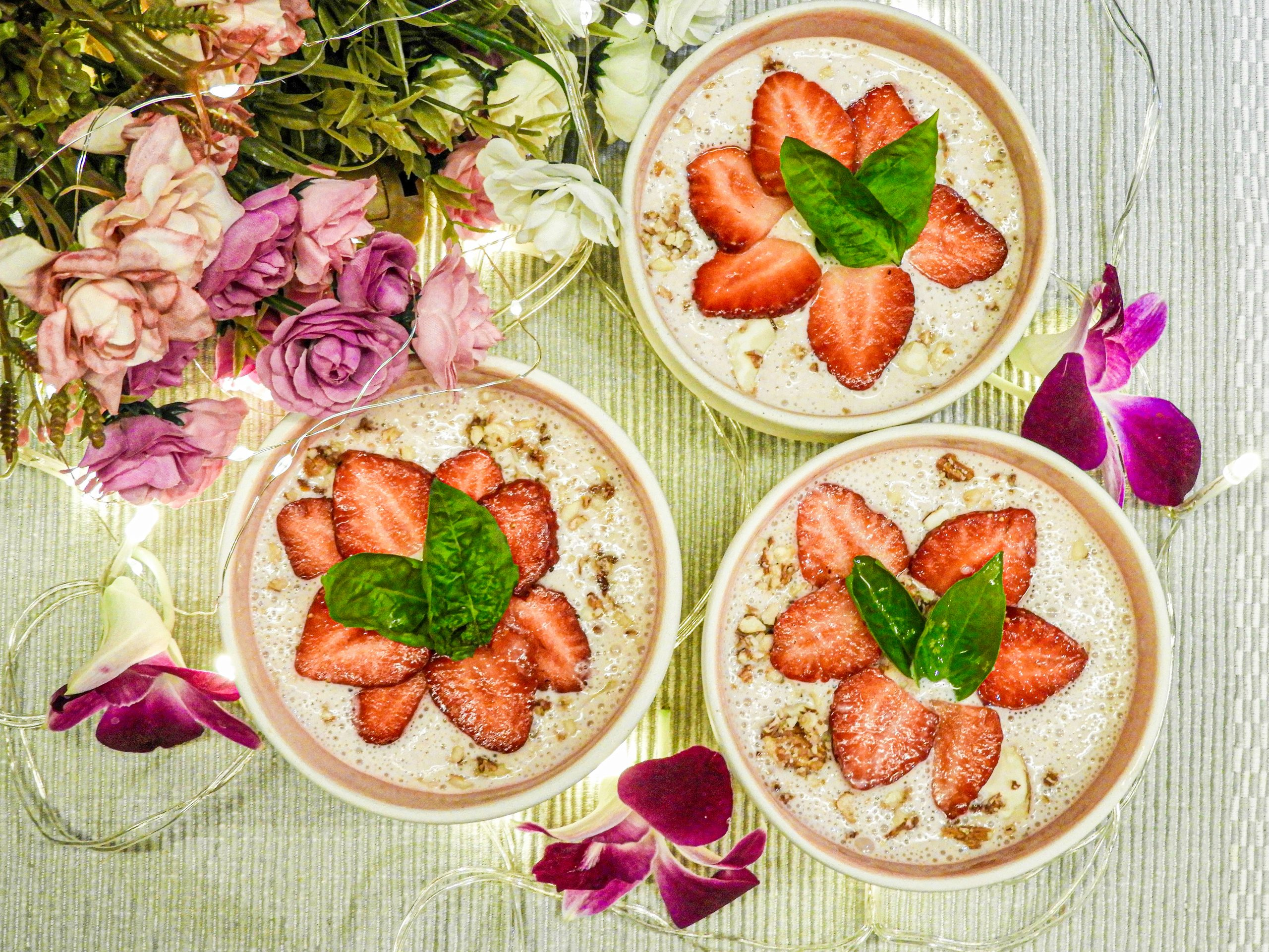 Coconut Strawberry Cream - fusion food recipe at Kitchen by Nidhi
