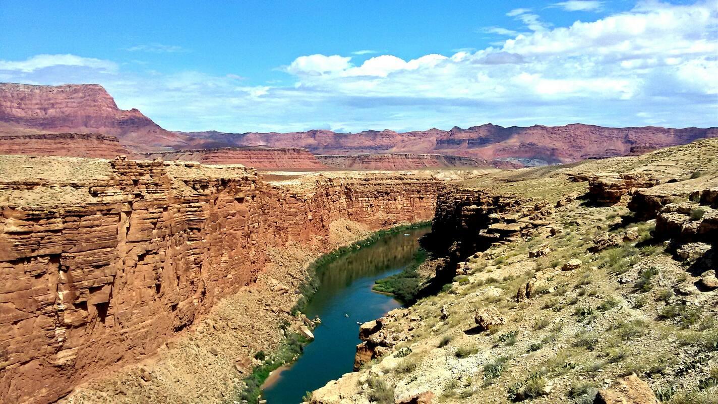 Vermillion Cliffs and Colorado River