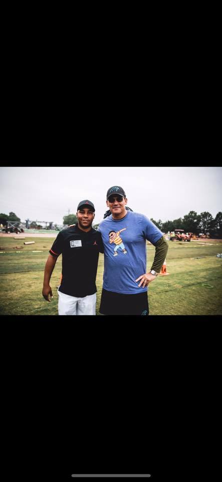 Thanks to the Panthers head coach for for supporting the HV3 Foundation!