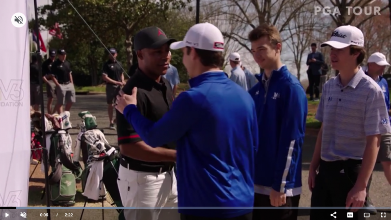 The PGA Tour features Harold Varner III and the foundation he started