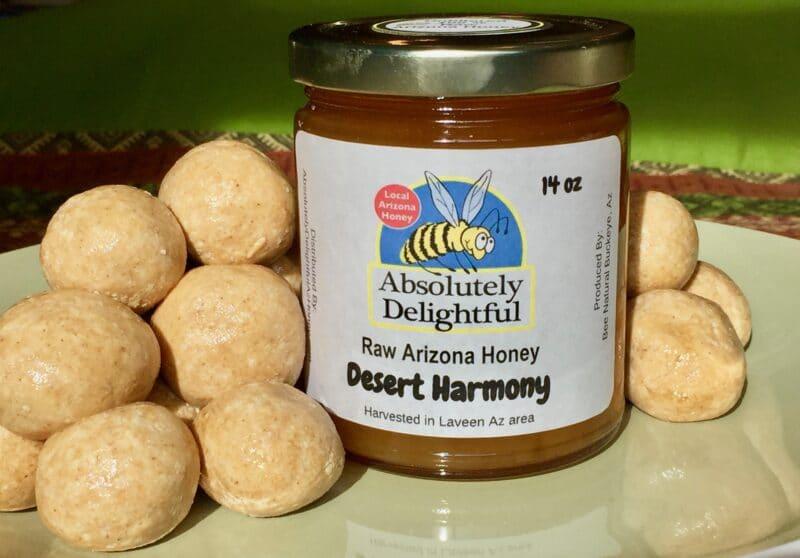 Use our local Desert Harmony honey make delicious no-bake treats.