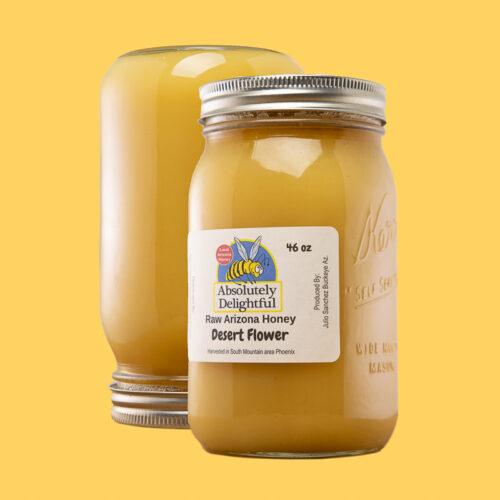 Two large desert flower Honey Jars