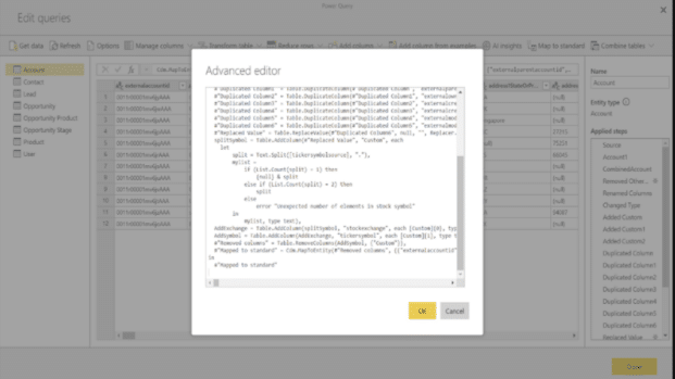This is a data visualization screenshot of data flow html text from PowerBI.